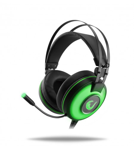 Rampage Alpha-X 7.1 USB Green headset