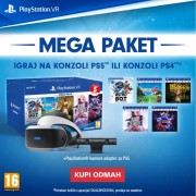 PlayStation VR headset v2 Mega Pack 3 + PS4 Kamera v2 (Mk5)