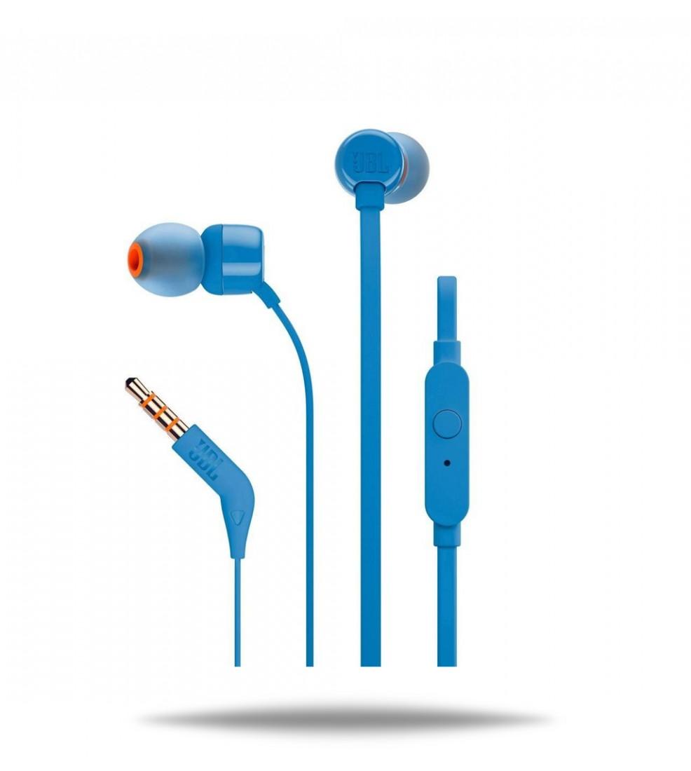 JBL T110 Blue slušalice s mikrofonom