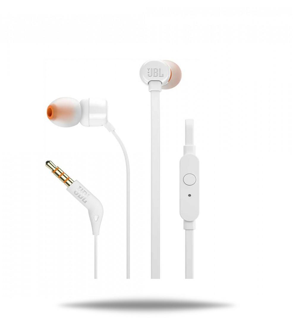 JBL T110 White slušalice s mikrofonom