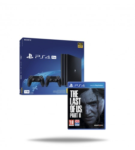 PlayStation 4 Pro 1TB Black + dodatni PS4 DualShock kontroler + gratis The Last of Us Part 2 PS4
